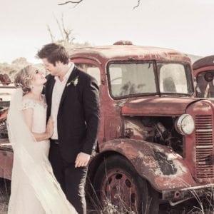 舊卡車婚紗